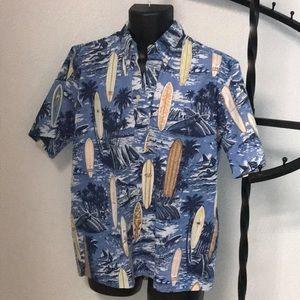 Reyn Spooner Surfboard Hawaiian Shirt (S)